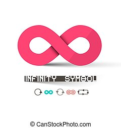 Infinity Symbols Set Isolated on White Background