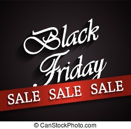 Black Friday sale poster Vector illustration