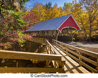 Covered bridge - Red covered bridge in Fanconia New...