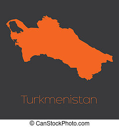Map of the country of Turkmenistan - A Map of the country of...