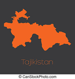 Map of the country of Tajikistan - A Map of the country of...