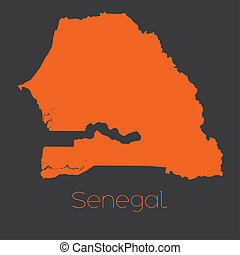 Map of the country of Senegal - A Map of the country of...