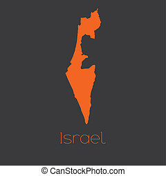 Map of the country of Israel - A Map of the country of...