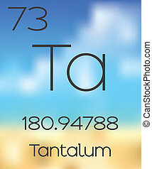 Periodic Table of the Elements Tantalum - The Periodic Table...