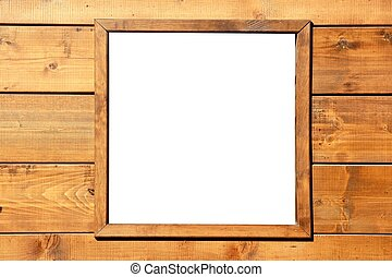 Wood window wall with copyspace - Wood window wall with...