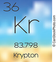 Periodic Table of the Elements Krypton - The Periodic Table...