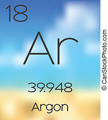 Periodic Table of the Elements Argon - The Periodic Table of...