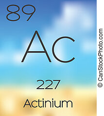 Periodic Table of the Elements Actinium - The Periodic Table...