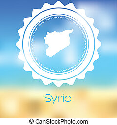 Map of the country of Syria - A Map of the country of Syria