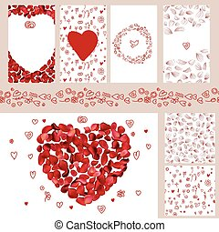 Wedding and Valentine's floral templates.