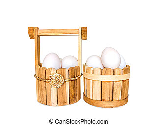 Duck eggs on white background with clippingpath - Duck eggs...