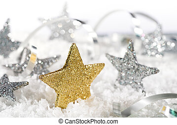 Christmas background with christmas stars - Christmas...