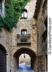 Medieval village of Pals, Costa Brava,Spain,Europe