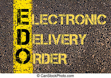 Business Acronym EDO as Electronic Delivery Order - Concept...