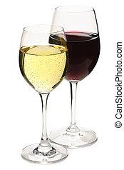 rouges, blanc, vin