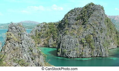 Lagoon at Coron island , Philippines - Lagoon at Kayangan...
