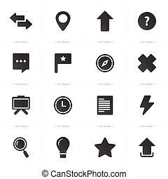 Media and communication icons