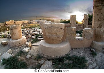 Temple of Luxor. Egypt - Ruins in Karnak Temple Complex in...
