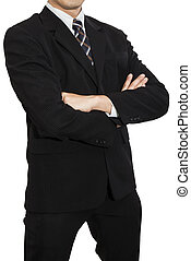 One Business Man 3 - One business man wear black suit stand...