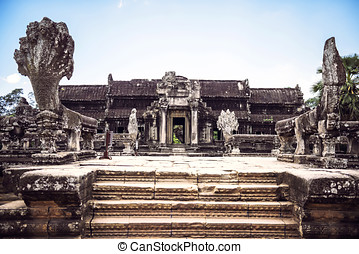 Angkor Wat Temple view, Siem reap, Cambodia
