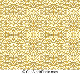 Background with Islamic Seamless Pattern