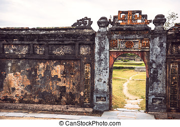 View of citadel in Hue, Vietnam citadel in Hue is enlisted...