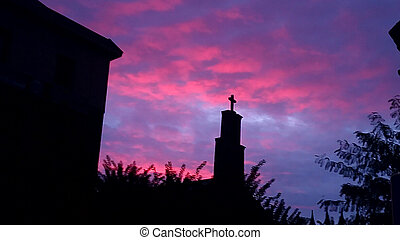 秋天, 天空, 教堂