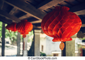Lanterns in the ancient town of Hoi An, Vietnam