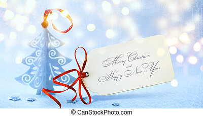 art Christmas background with Christmas tree , Boxing Day -...