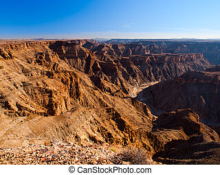 Fish River Canyon - Sunny day view of Fish River Canyon,...