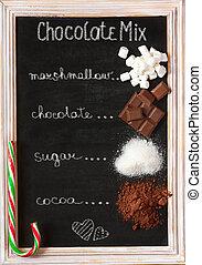 Chocolate mix.