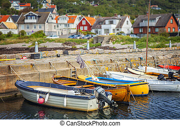 Quaint fishing village - Image of a small quaint fishing...