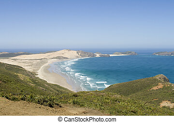 Ninety mile beach - View on ninety mile beach North Island,...