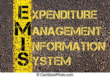 handlowy, Akronim, EMIS, jak, Wydatek, kierownictwo,...