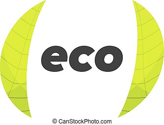 eco logo template - Template of eco logo with background,...