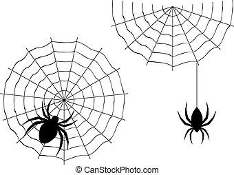 Cartoon Spider - Abstract illustration of cartoon halloween...
