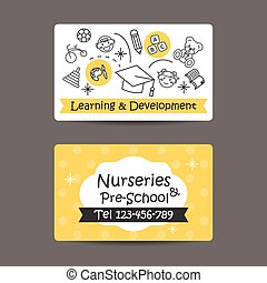 Print preview Business Card, Nursery And preschool