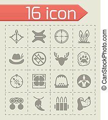 Vector Hunting icon set