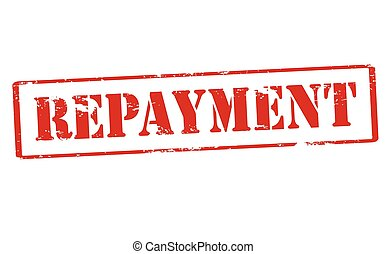 Repayment - Rubber stamp with word repayment inside, vector...