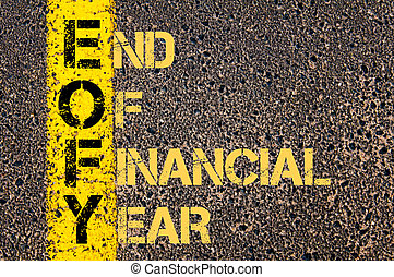 Business Acronym EOFY as END OF FINANCIAL YEAR - Concept...