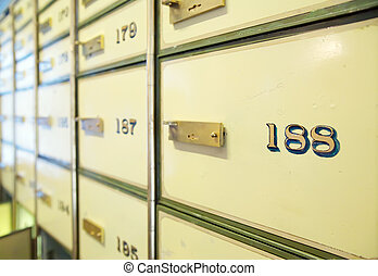 vintage safe deposit boxes Focus on 188