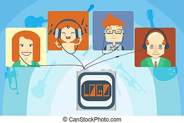 Family listening music