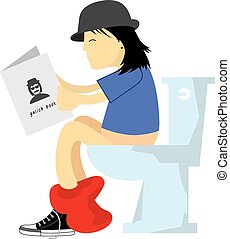 man in the toilet