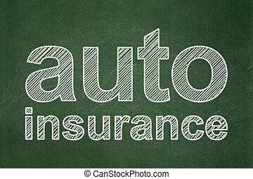 Insurance concept: Auto Insurance on chalkboard background -...