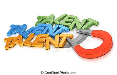 Talent Acquisition or Recruitment - Horseshoe magnet...