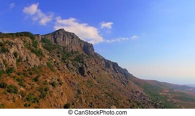 Famous Mountain Demerdzhi At Sunny Day in Crimea - In the...