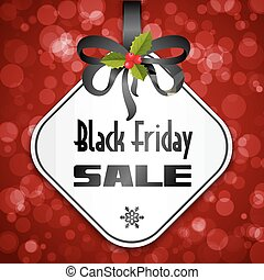 Black Friday sale background with bow and holy