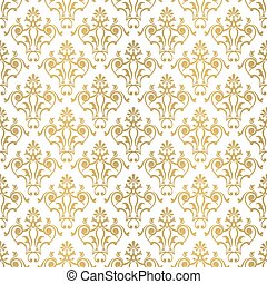 Seamless floral tiling pattern.