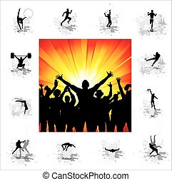 Olimpic Gameseps - Set of silhouettes for sports...