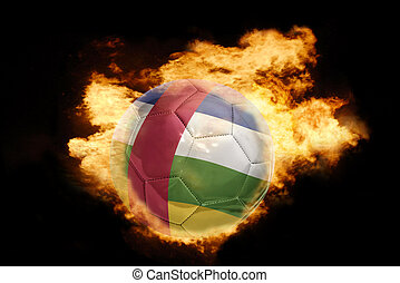 football ball with the flag of central african republic on...
